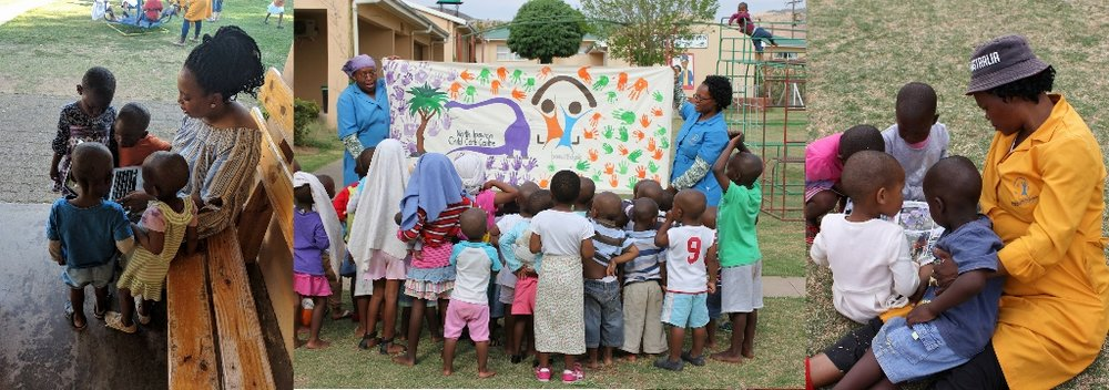 The orphans with staff at Beautiful Gate