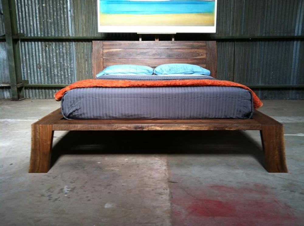 Bastogne Walnut Platform Bed