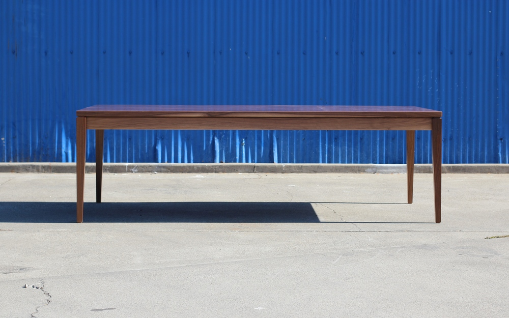 "Dining Table  American Walnut  96""L x 48""w x 29""h   Conversion Varnish Finish"