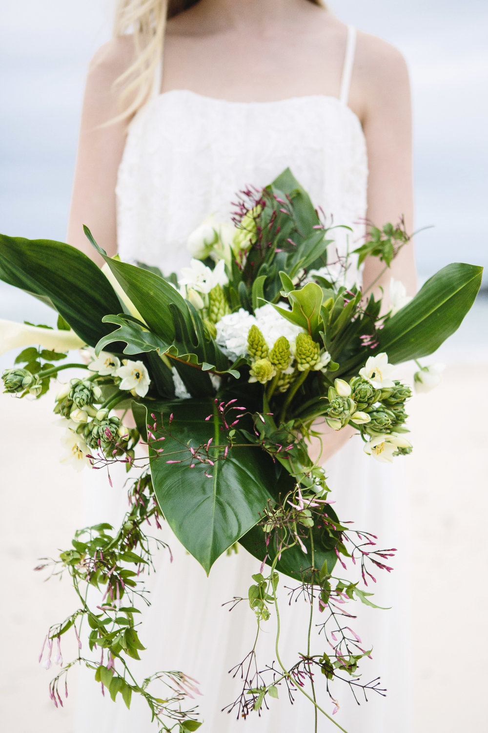 The trailing green foliage in this amazing bouquet by Wilde Flora combines modern and whimsical trends we are seeing in Australia currently.