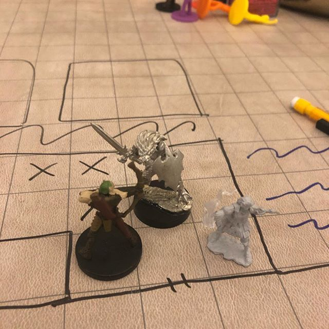 Beating the bad guys... this was not the battle we almost wiped out on 😂 #d&d #dnd #dndgamingnights #friends #dragonborn #firegenasi #woodelf #druid #warlock #ranger #fun #tabletopgaming #weneedapaintingminisnight