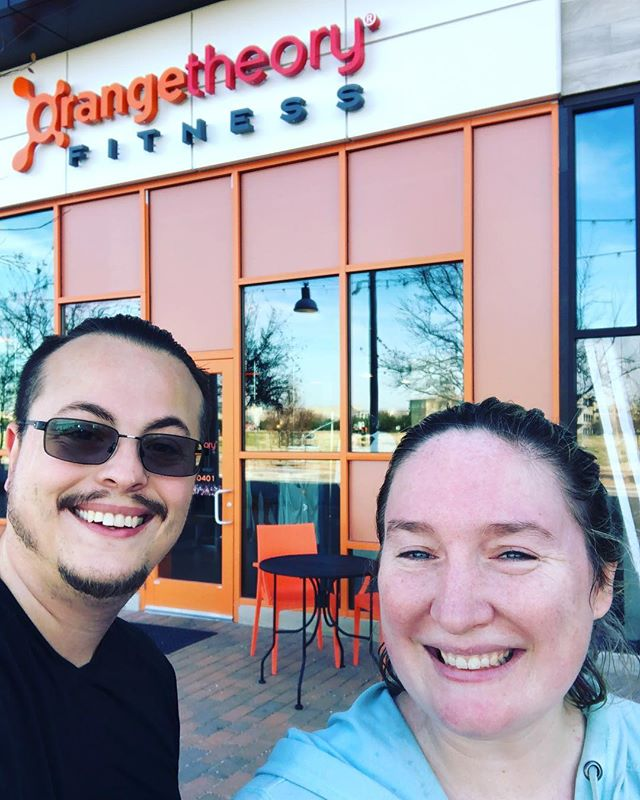 After work out selfie! Been going to Orange Theory for a few classes not and we love it!  #workout #postworkoutselfie #changingmylife #orangetheoryfitness #orangetheorymueller