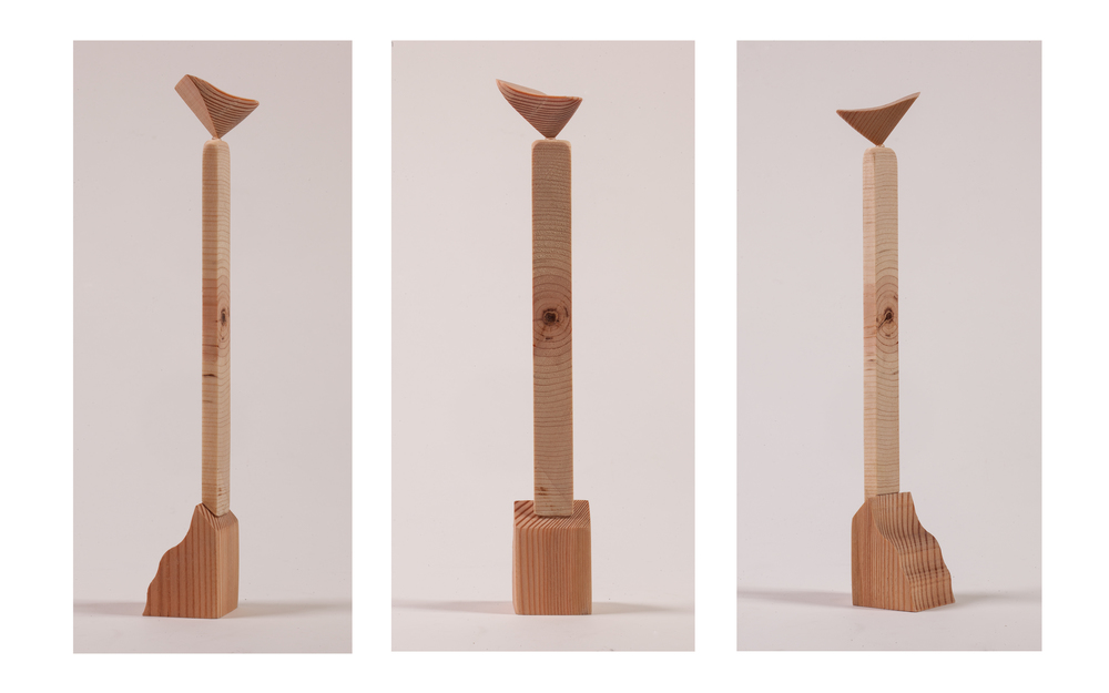 """Copy of """"Smallest Monument"""", 2014, Wood, 11"""" x 1.5"""" x 2"""""""