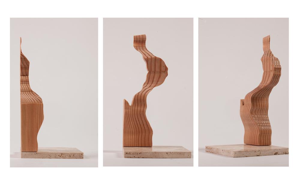 """Copy of """"Vertical Landscape"""", 2014, Wood, 7.5"""" x 3.5"""" x 1.5"""""""