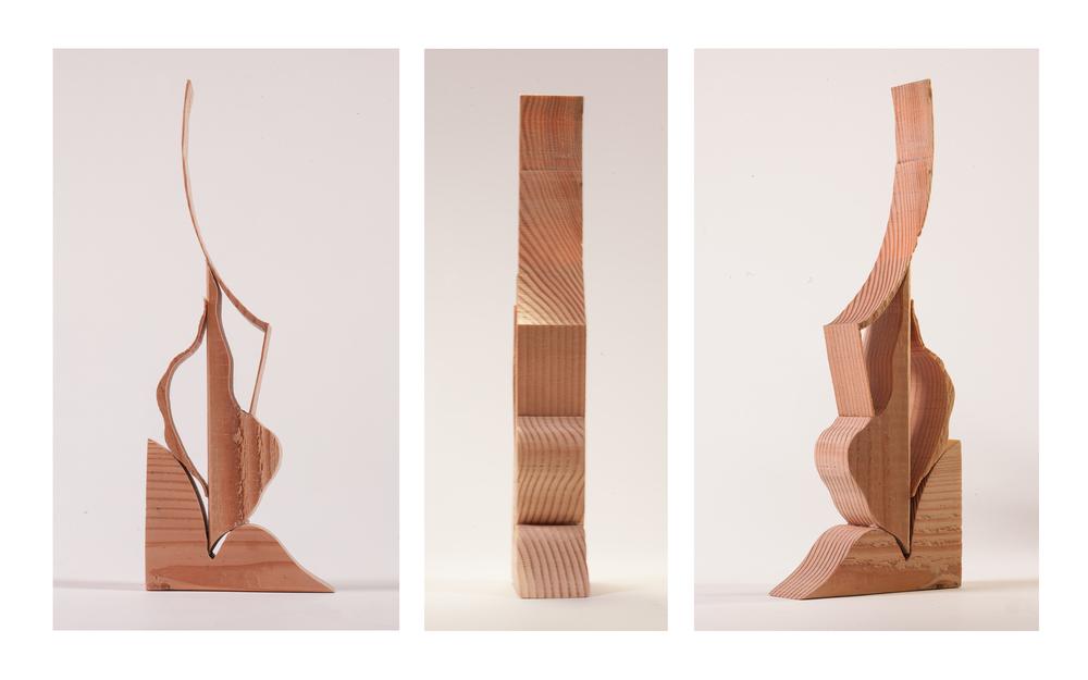 "Copy of ""Madame"", 2014, Wood, 11"" x 5"" x 1.5"""
