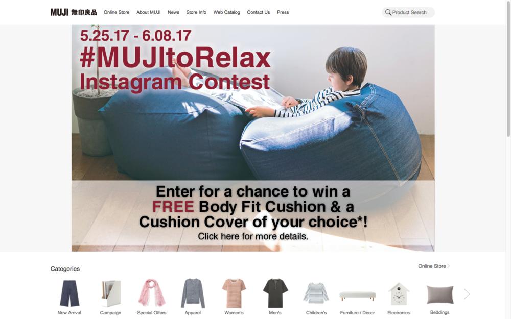 MUJI's e-commerce website