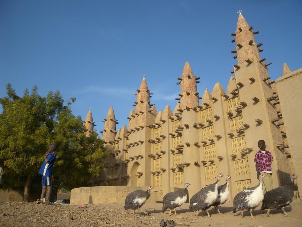 Un villaggio lungo il fiume Niger