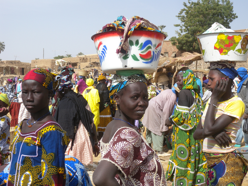 Villaggio sul fiume Niger