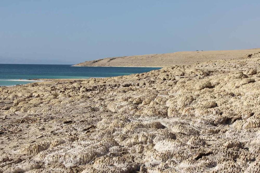 Mar Morto, spiaggia di sale