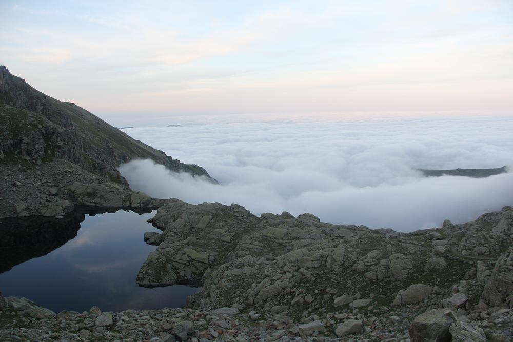 La vista dal rifugio Quintino Sella