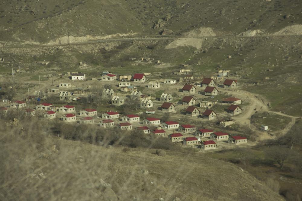 Il primo insediamento dell'NKR: questa zona non fa parte della regione storica del Nagorno ma è territorio azero occupato dagli armeni