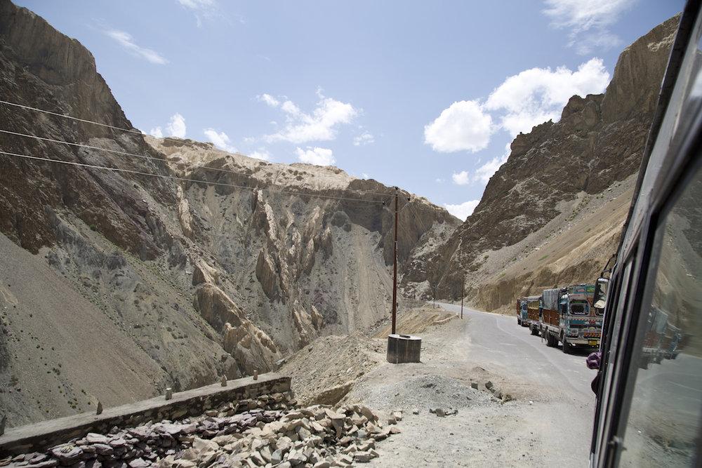 Lungo la strada che collega Khalsi a Lamyuru