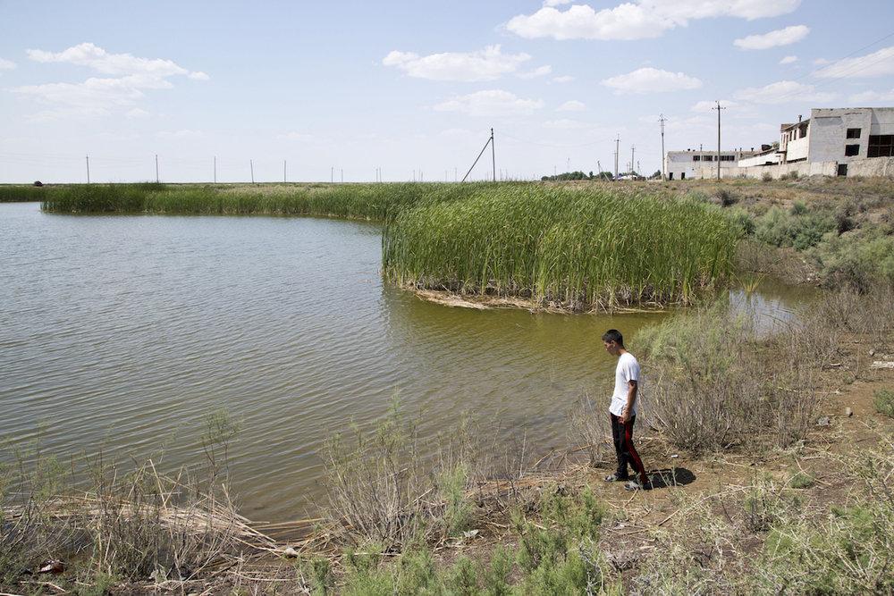 Il nuovo lago, a Moynaq