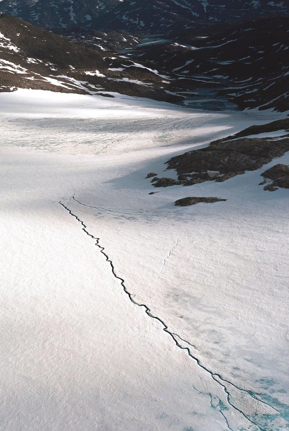 glacial crack/canada