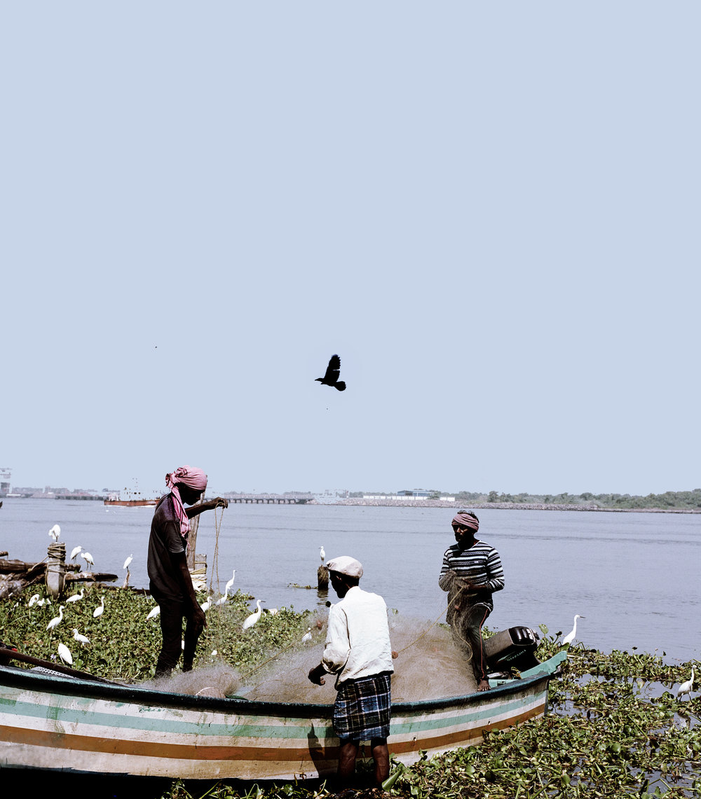 Fishermen in Fort Kochi.
