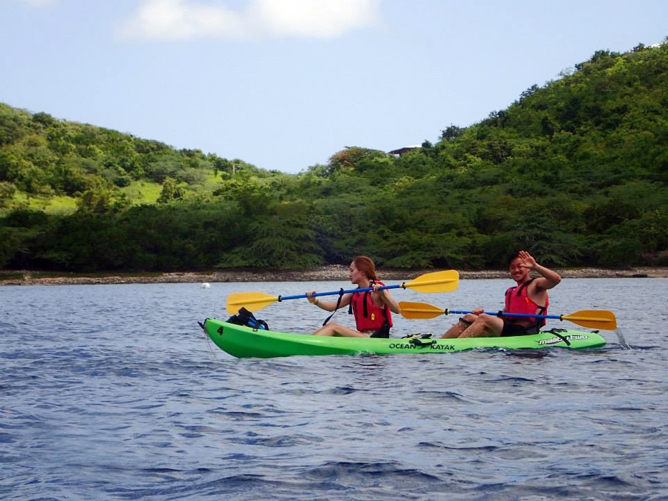 Kayaking along the coast of Culebra Island