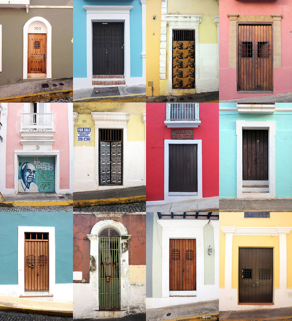 Here's a grid of some of the many doors I came across.