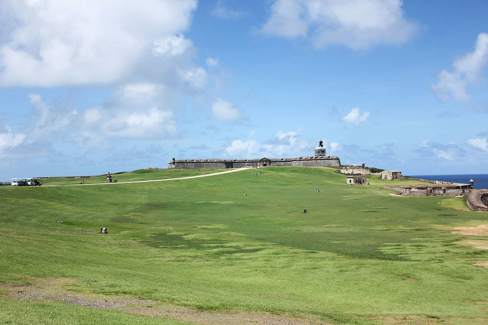 View of Castillo San Felipe del Morro overlooking the San Juan Bay.