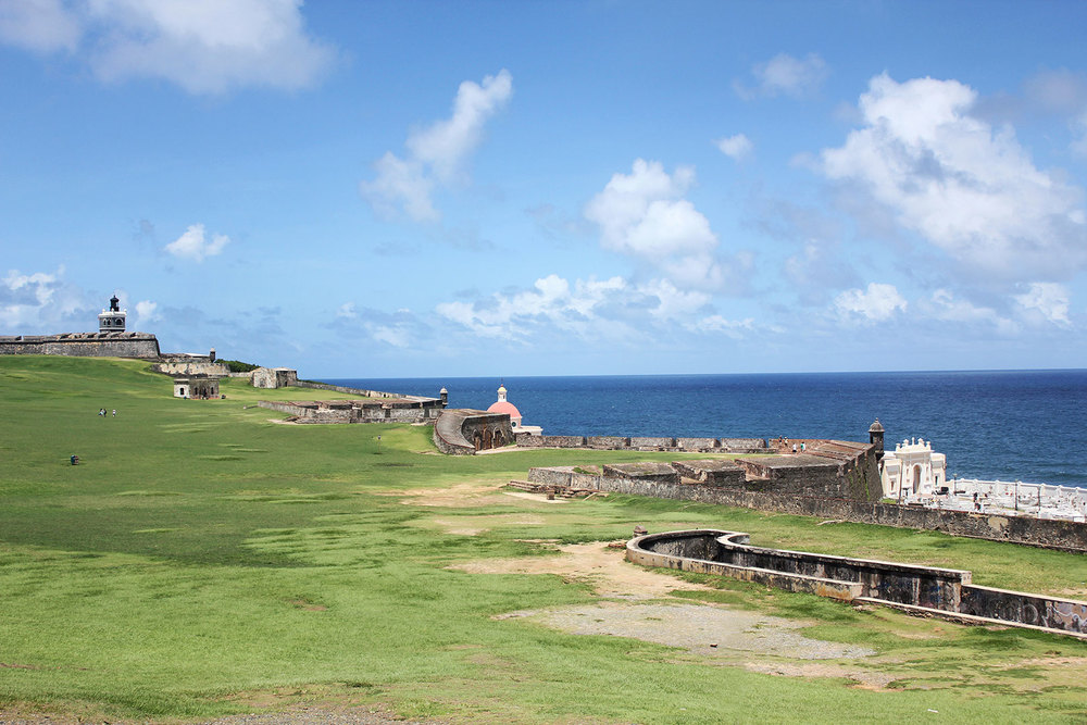 The fortifications along Castillo San Felipe del Morro.