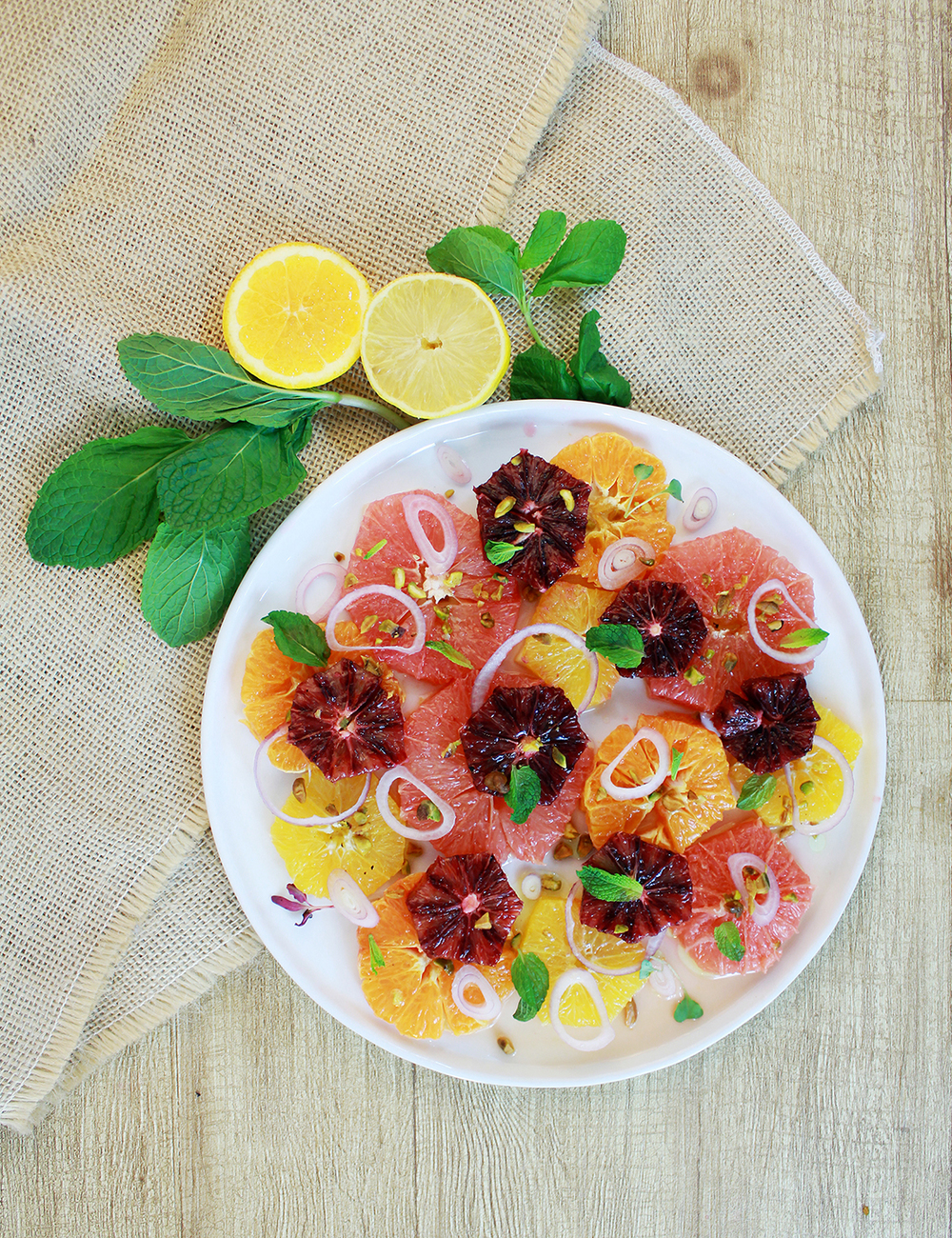And voila!, a refreshing citrus salad for a warm summer day!