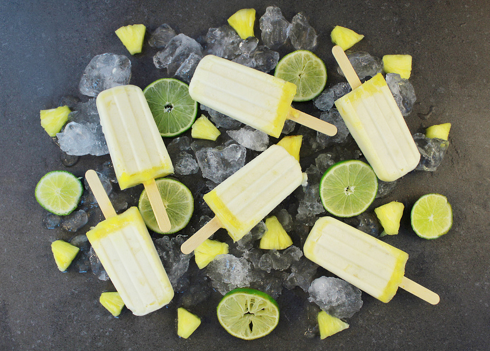 The Vegan Pina Colada Popsicle is perfect to beat the summer heat.