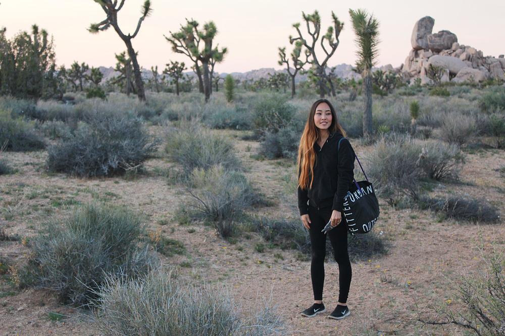 Hiking and enjoying the sunset