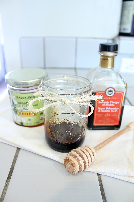 Balsamic Glaze Ingredients: Balsamic Vinegar + Honey