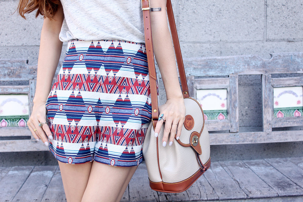 Zara shorts, Dooney & Bourke bag