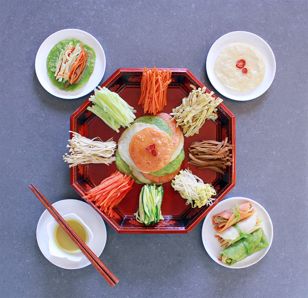 "This is a vegetarian take on the Gujeolpan ""Platter of Nine Delicacies"", a special dish that was reserved for the king and royalty during the Joseon Dynasty of Korea."