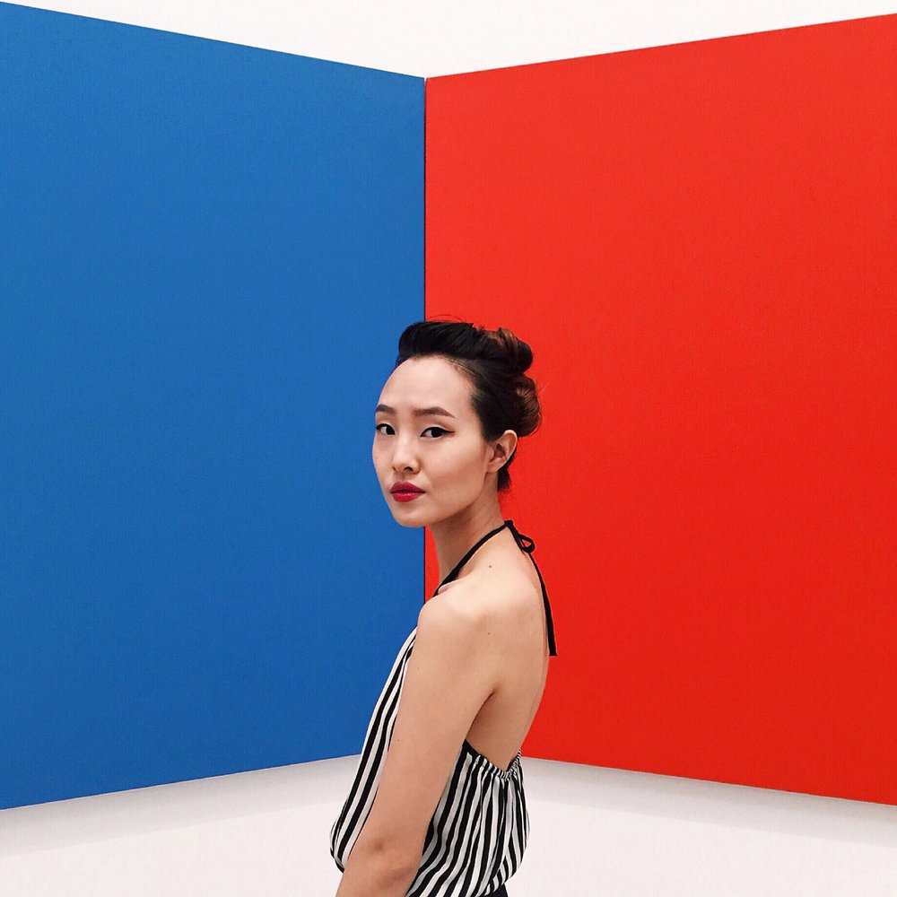 Ellsworth Kelly Blue Red 1968 Oil on canvas, two joined panels