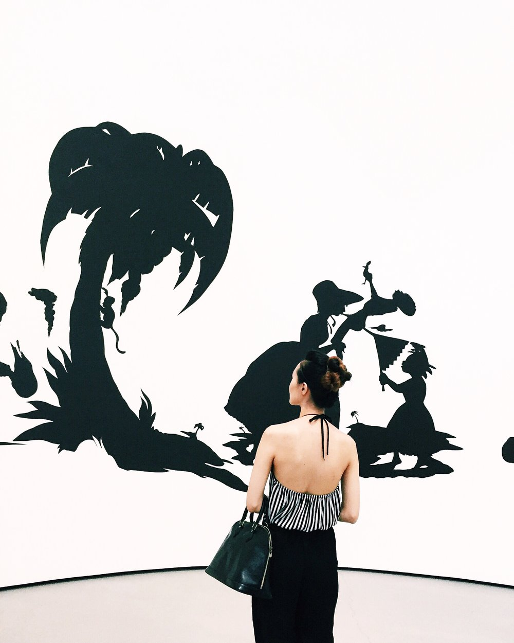 Kara Walker African't 1996 Cut paper on wall