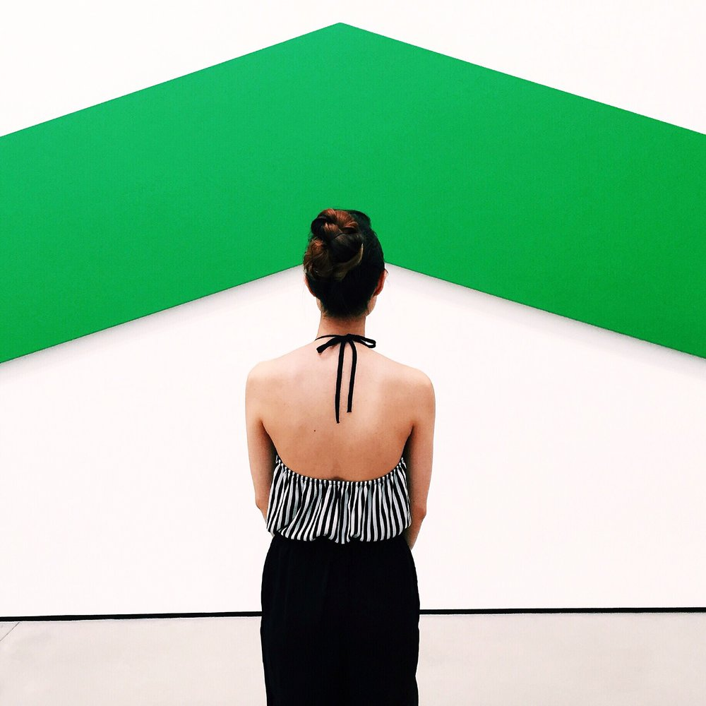 Ellsworth Kelly Green Angle 1970 Oil on canvas