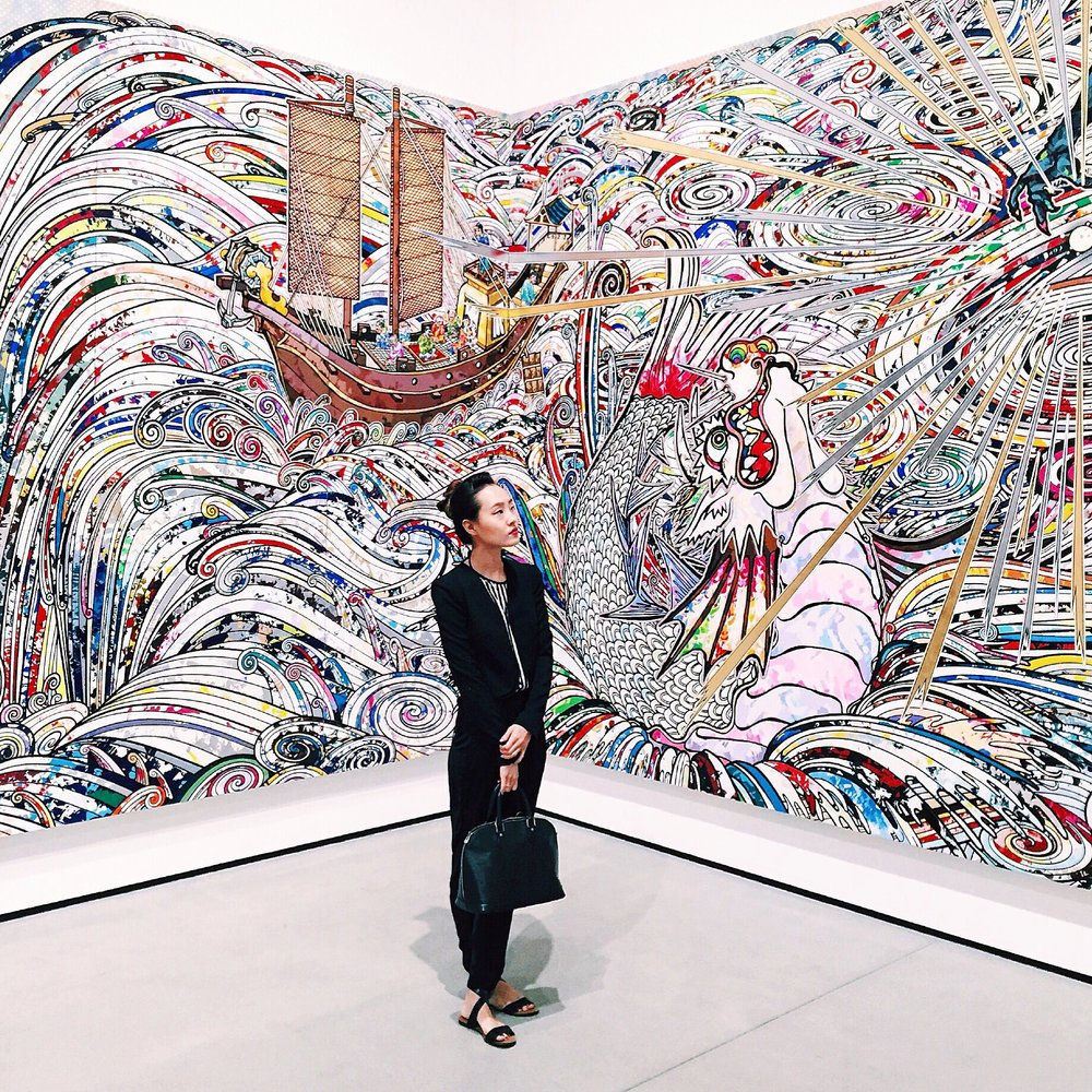 Takashi Murakami In the Land of the Dead, Stepping on the Tail of a Rainbow 2014