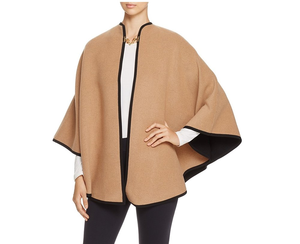 Burberry Round Double Faced Poncho