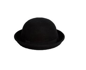 ASOS Bowler Hat in Black Felt