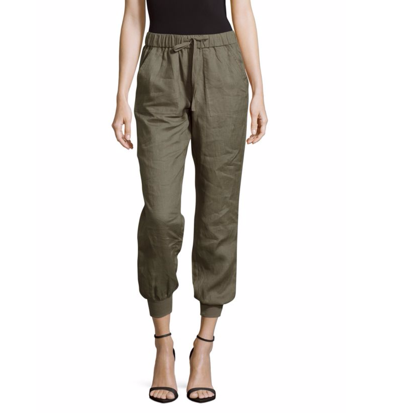 Saks Fifth Avenue Linen Cropped Jogger Pants