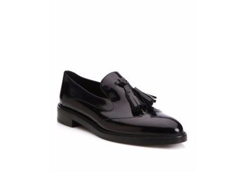 Burberry Halsmoor Patent Leather Tassel Loafers