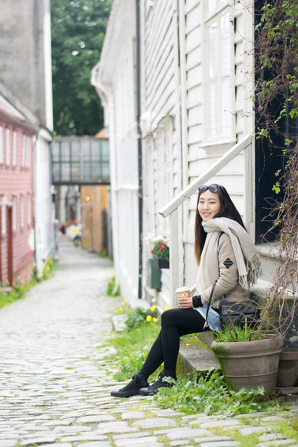 The mountainside of Bergen has the most quaint streets with homes and alleyways.