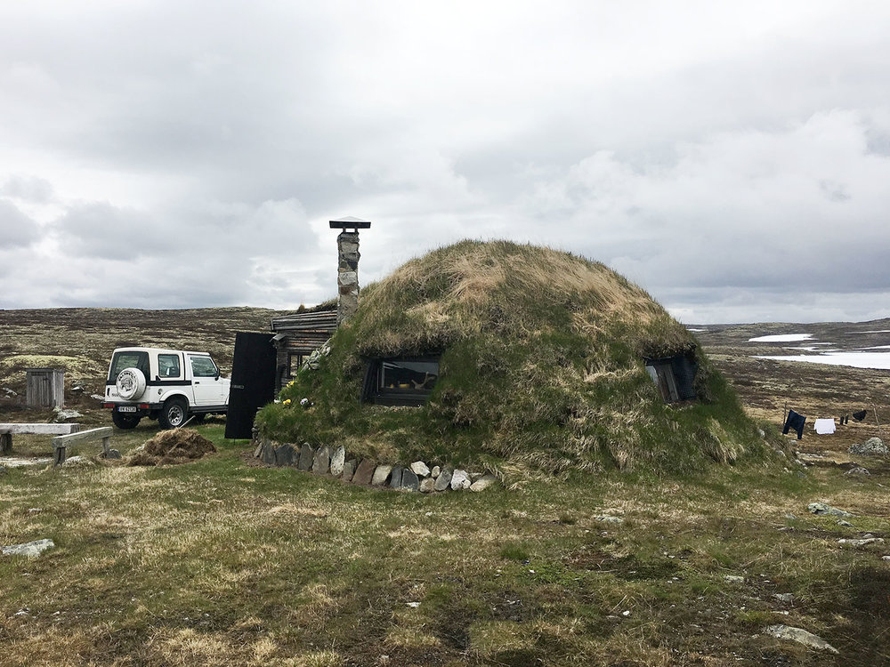 A traditional Viking turf house! There are so many of these as you drive through the country.