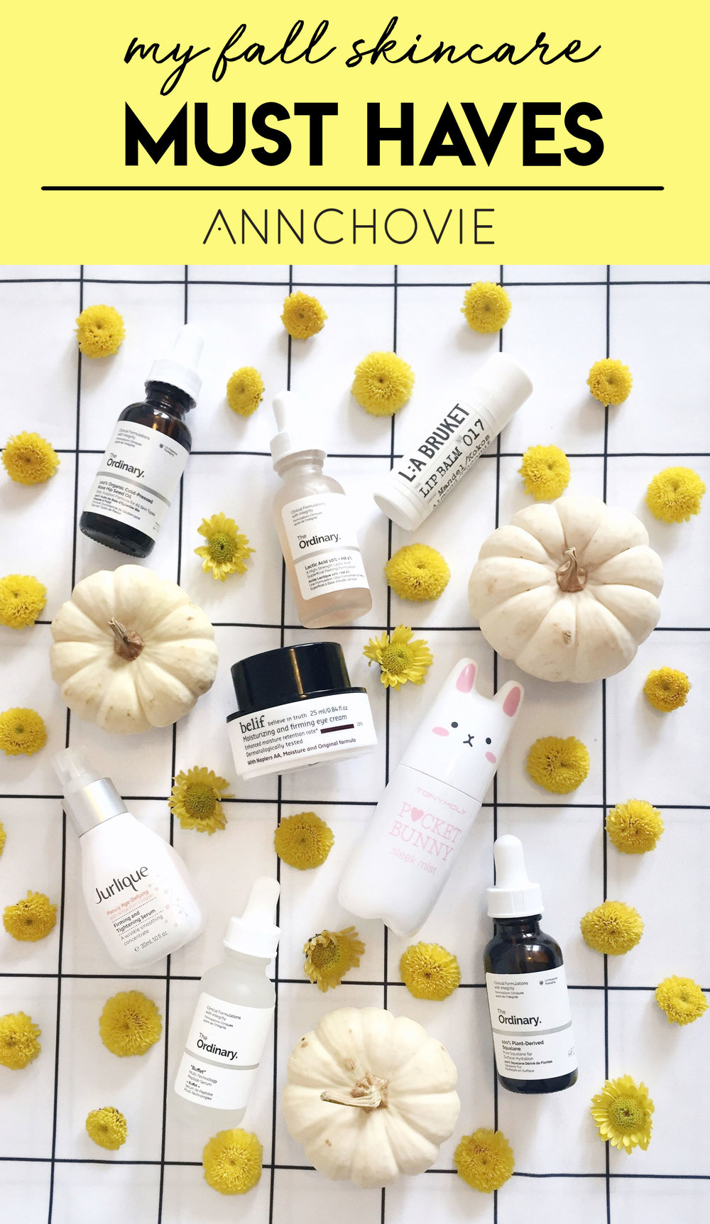 My Fall Skincare Must Haves