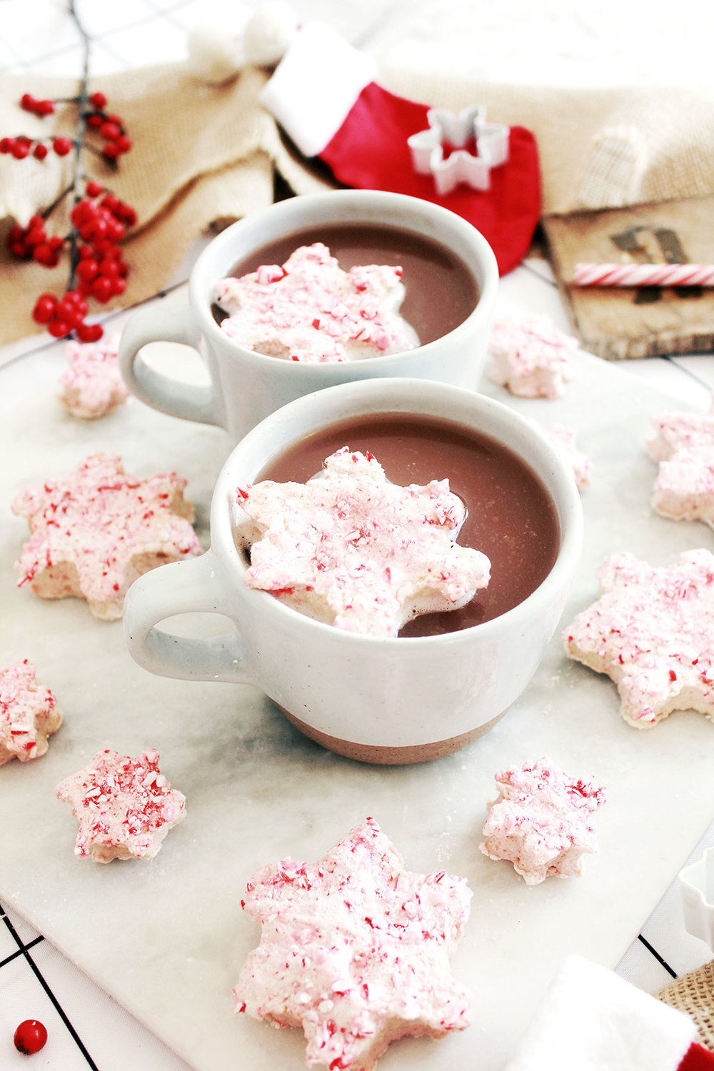 Homemade Snowflake Peppermint Marshmallows Recipe