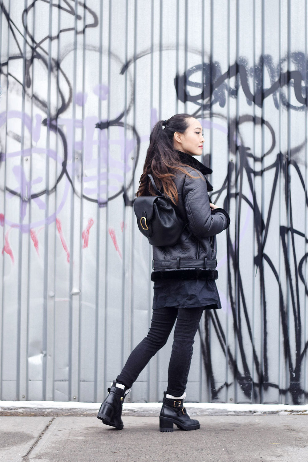 How to Wear a Biker Jacket in Winter