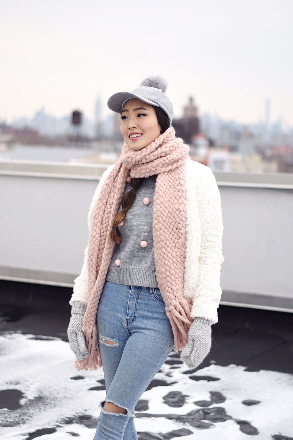 How to Wear the Pom Pom Trend for Winter