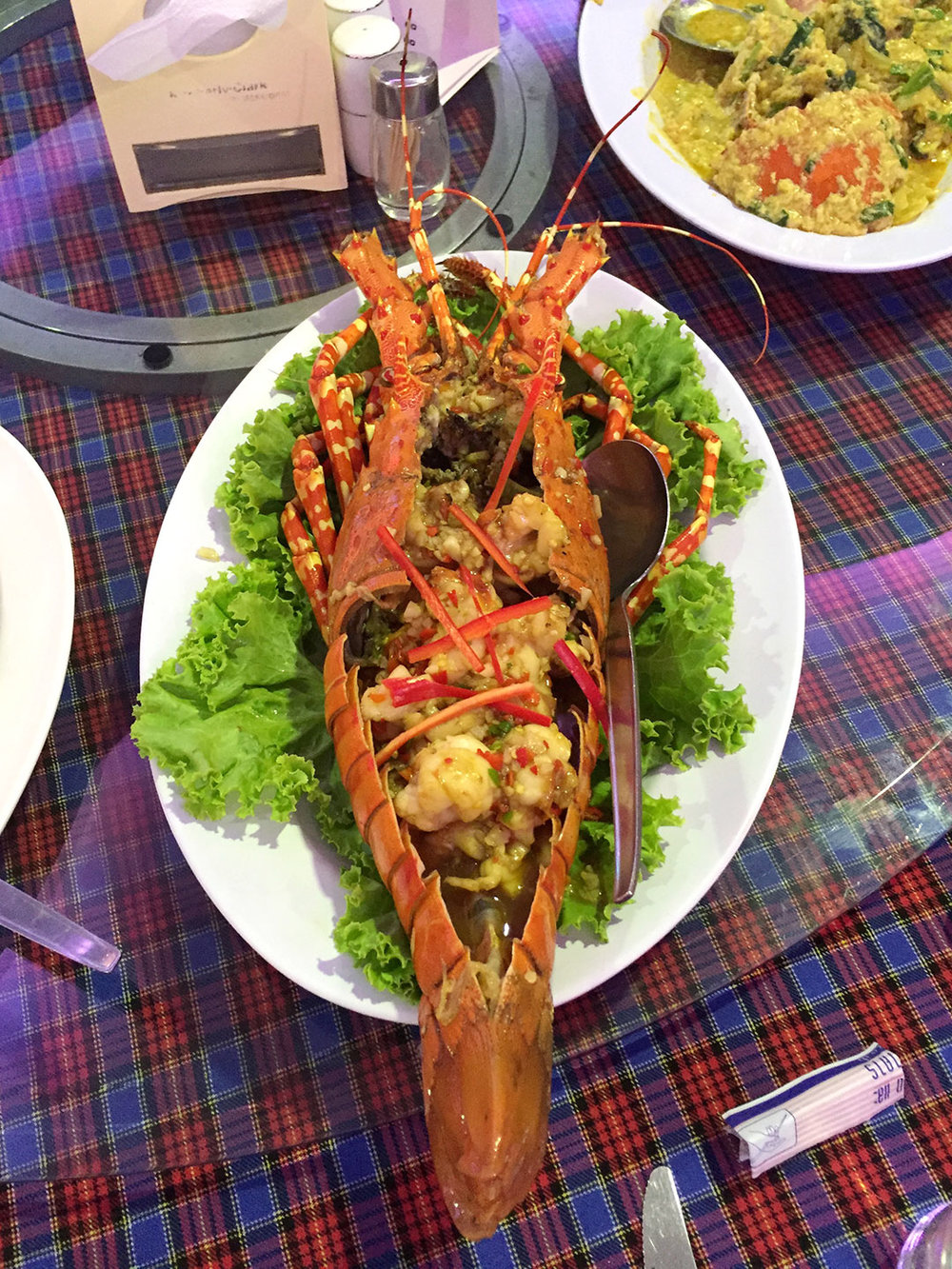 SEAFOOD MARKET & RESTAURANT:  If you love fresh seafood,   Seafood Market & Restaurant   is the place to go. You pick your seafood and how you'd like it cooked. Our favorites were the lobster and the curry crab!