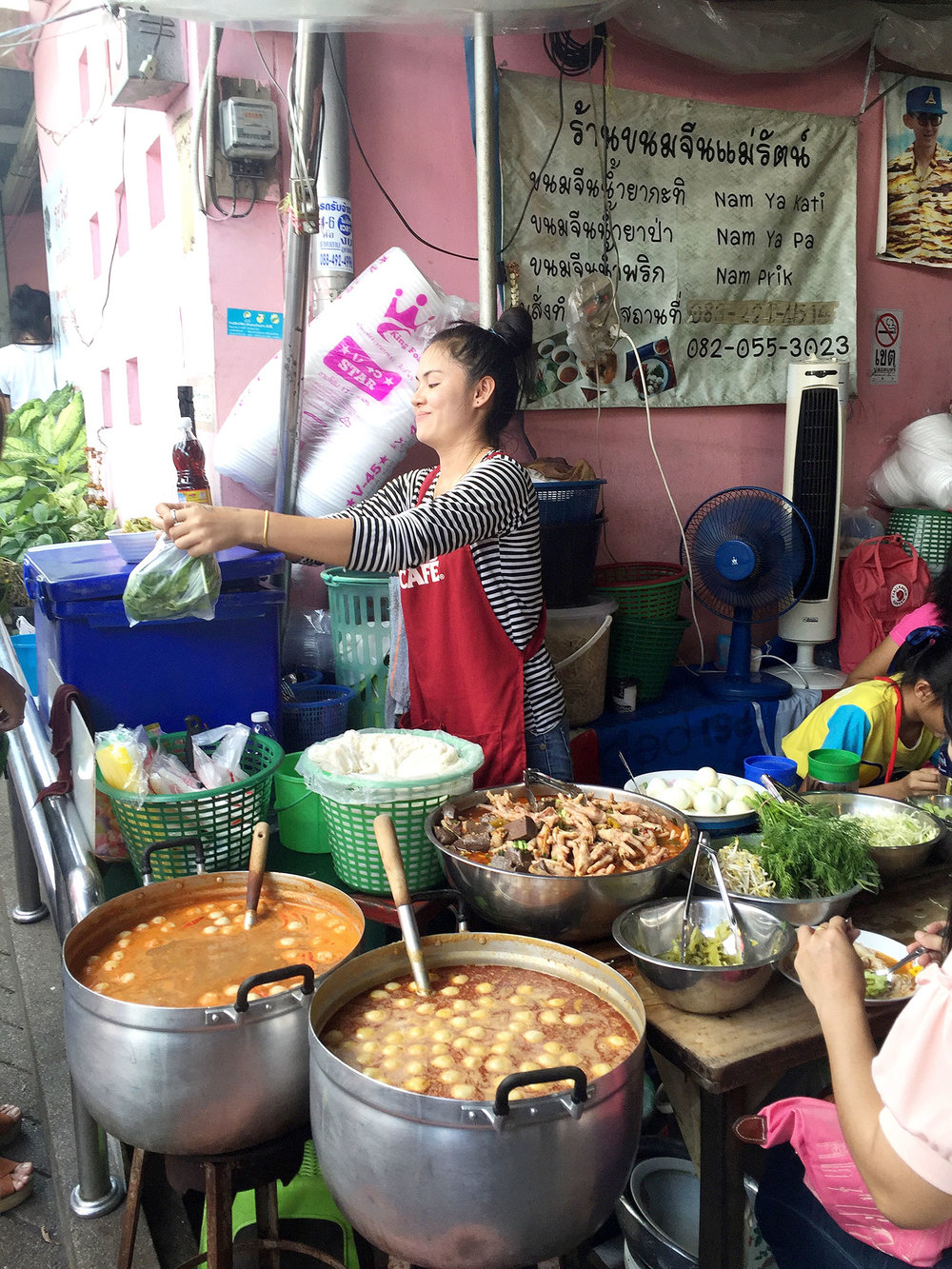 STREET FOOD:   Street food is the bomb in Thailand. Go to the booths where lots of locals are hanging out!   Khao San Road   is a popular street to shop and get food!