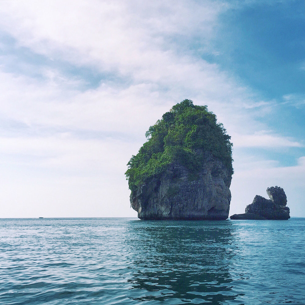 Beautiful rock formations in the Phi Phi Islands