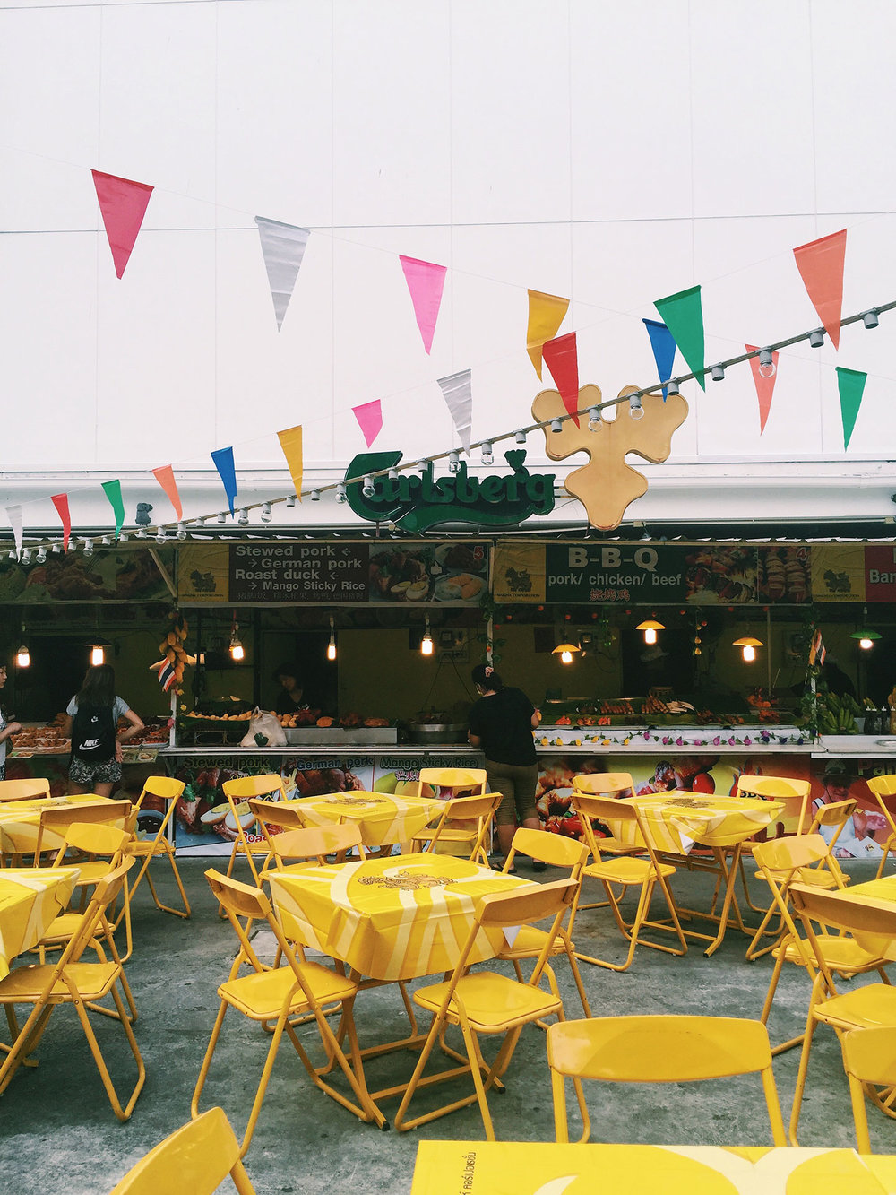 The outdoor food court on Bangla Road