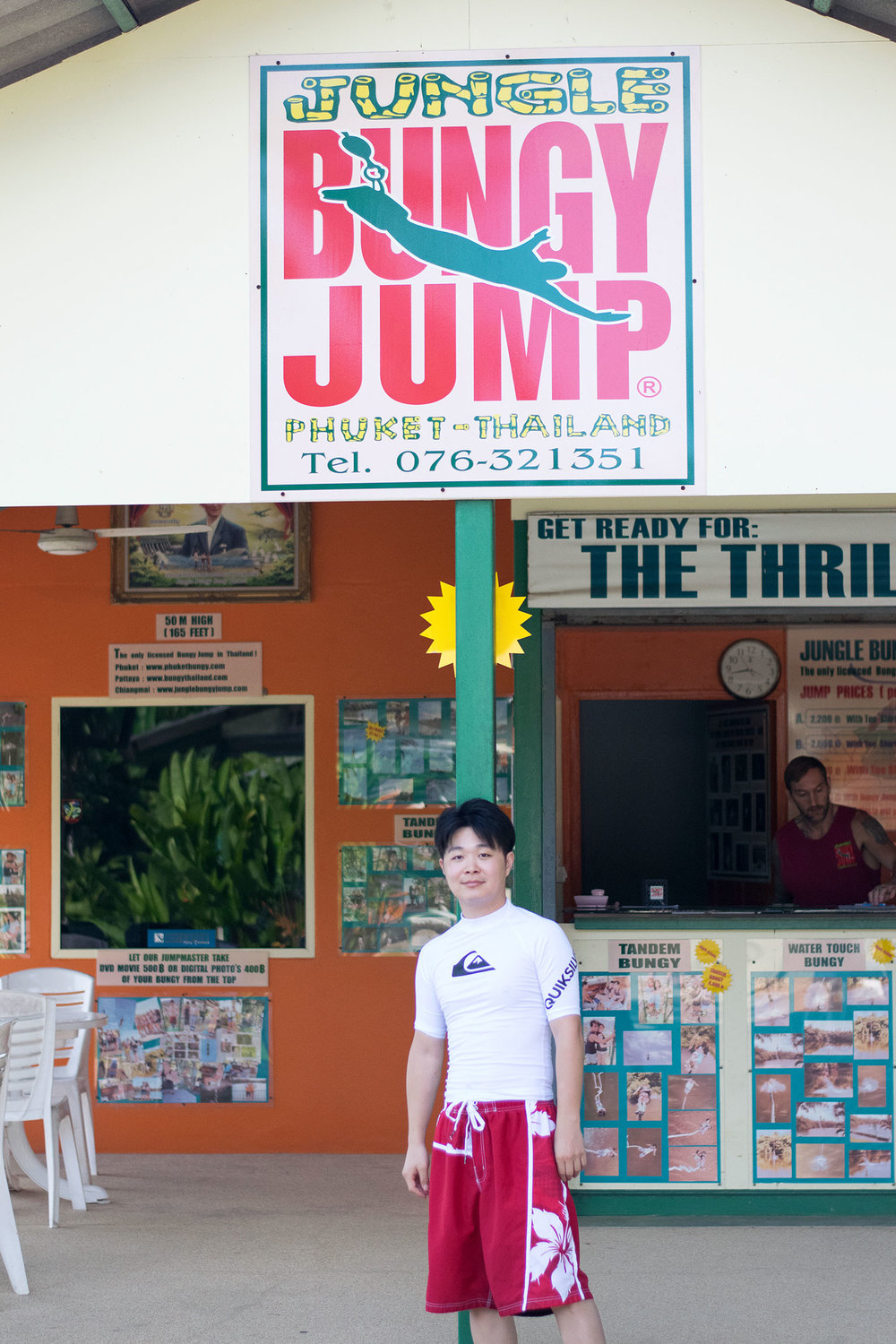 BUNGEE JUMPING:  While I am too scared to try this myself, our friend Danny went bungee jumping at   Phuket Jungle Bungy Jump  . Try it out if you're a daredevil!