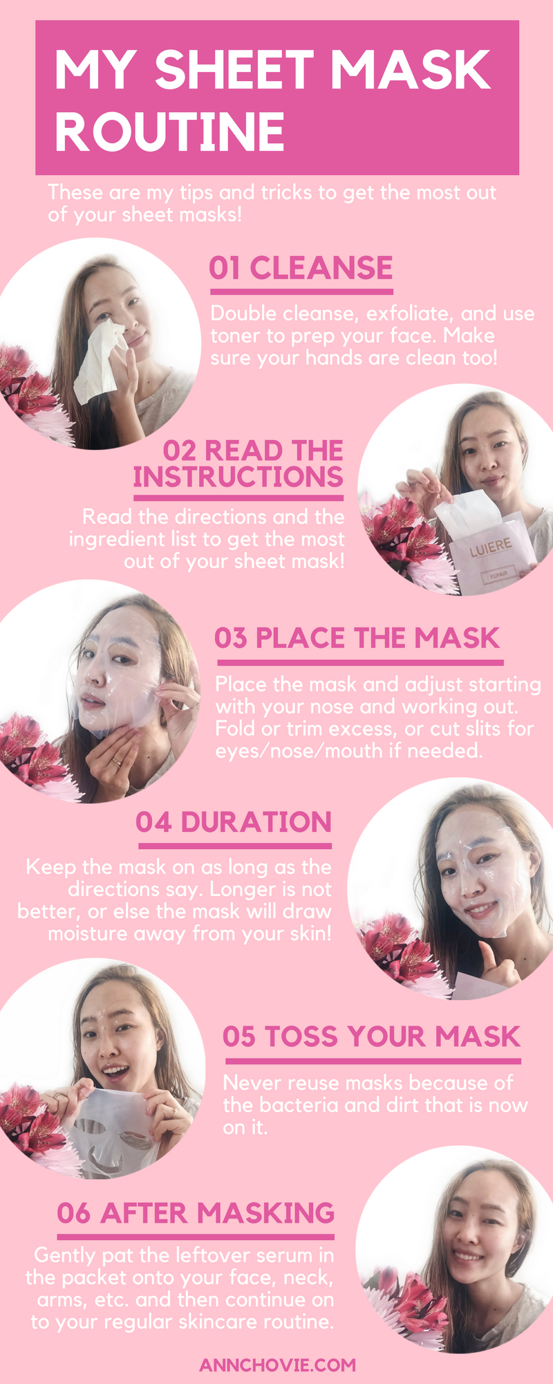While sheet masks are definitely easy to use, there are common mistakes that even I have committed in the past. I've put together my routine with the dos and don'ts,and tips and tricks to get the most out of your sheet masks.| BEST SHEET MASKS YOU NEED TO TRY | SHEET MASK ROUTINE | BEST FACE MASKS | KOREAN BEAUTY |