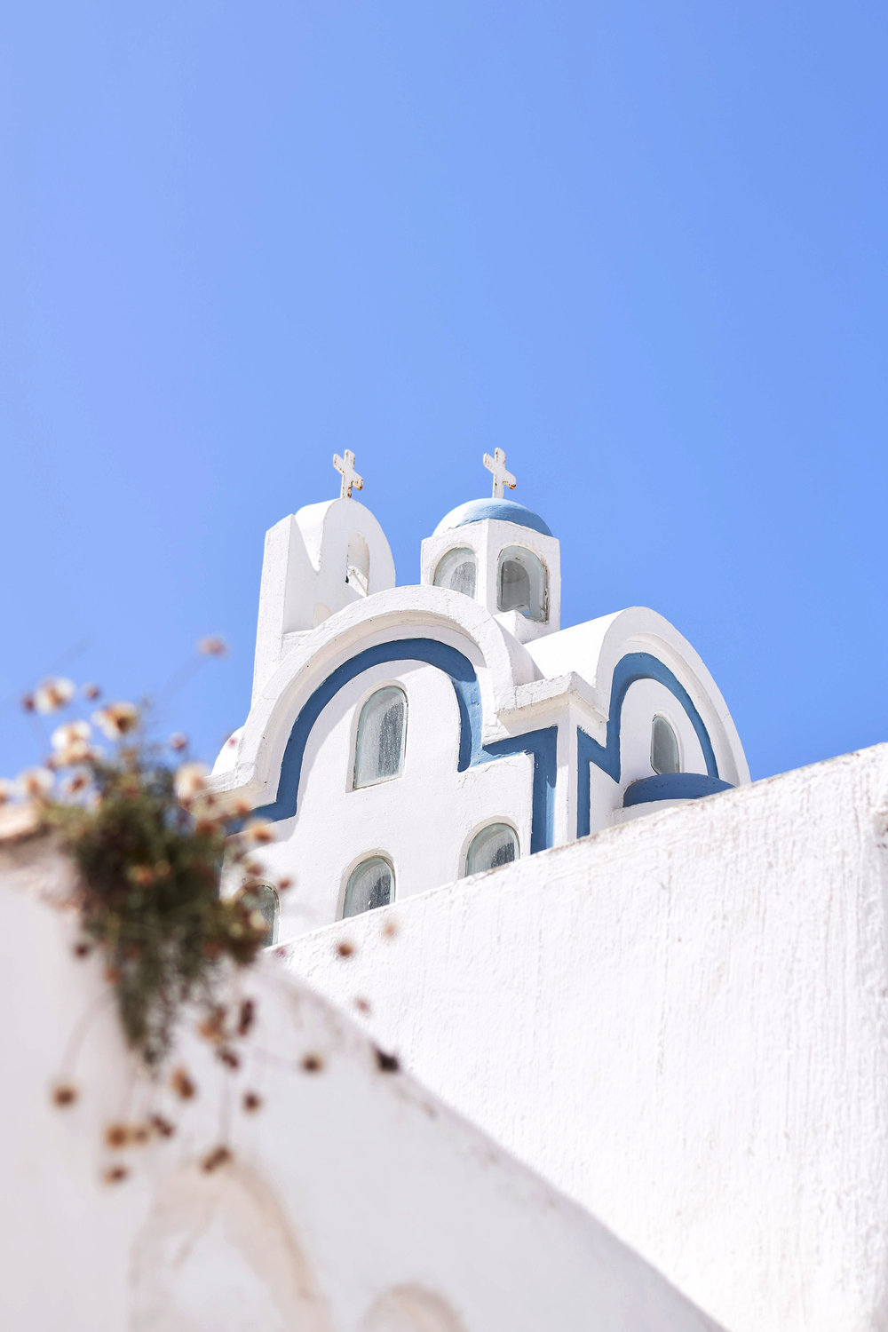 A church in Megalochori, Santorini